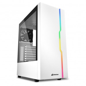 CAJA ATX SHARKOON RGB SLIDER BLANCO