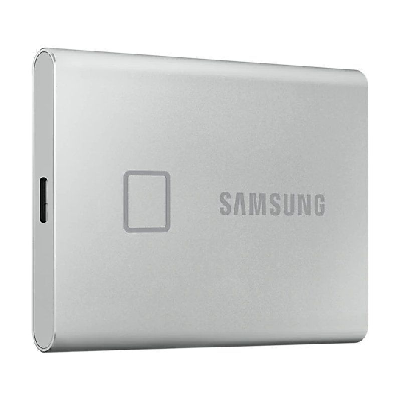 Disco Externo SSD Samsung Portable T7 Touch 500GB/ USB 3.2/ Plata