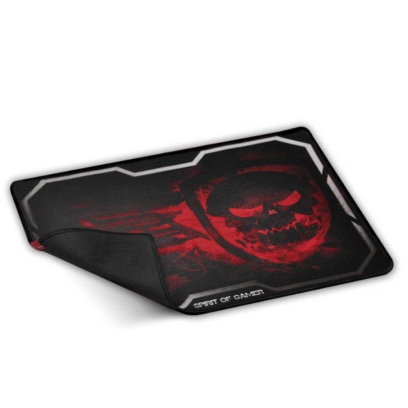 Alfombrilla Spirit of Gamer Smokey Skull XL/ 435 x 323 x 3mm/ Roja
