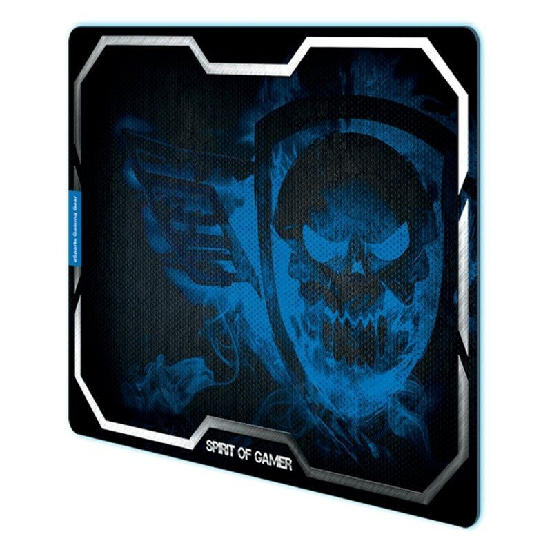 Alfombrilla Spirit of Gamer Smokey Skull XL/ 435 x 323 x 3mm/ Azul