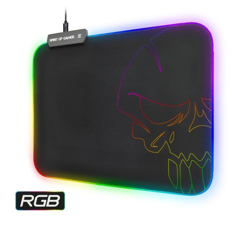 Alfombrilla Spirit of Gamer Skull RGB M con Iluminación LED/ 300 x 230 x 3mm